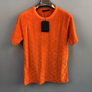 Louis Vuitton Men Orange T-Shirt